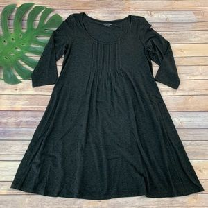 Eileen Fisher dark gray scoop neck shift dress